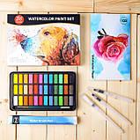 Подарочный набор акварельные краски для рисования Professional Paint Set 36 цветов в металлическом пенале, фото 3