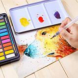 Подарочный набор акварельные краски для рисования Professional Paint Set 36 цветов в металлическом пенале, фото 4