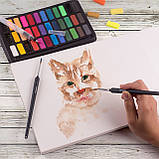 Подарочный набор акварельные краски для рисования Professional Paint Set 36 цветов в металлическом пенале, фото 5