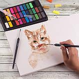 ВІДЕООГЛЯД! набір акварельні фарби для малювання Professional Paint Set 36 кольорів, фото 5