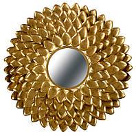 Металлическое настенное зеркало Daphne 190 в раме цвета золота