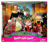 Коллекционные куклы Барби Сестры Праздник Рождества Christmas Holiday Sisters Barbie Kelly Stacie Mattel 1998