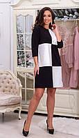 Платье со вставками из эко кожи в расцветках 38884, фото 1