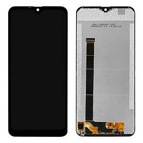 Дисплей (экран) для Ulefone Note 7 с сенсором (тачскрином) черный Оригинал