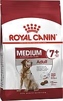 Royal Canin Medium Adult 7+. Сухой корм для собак средних пород, в возрасте от 7 лет. 4кг.