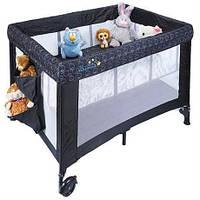 Манеж-кровать для детей с рождения и до 3 лет (20 кг). удобный прямоугольный
