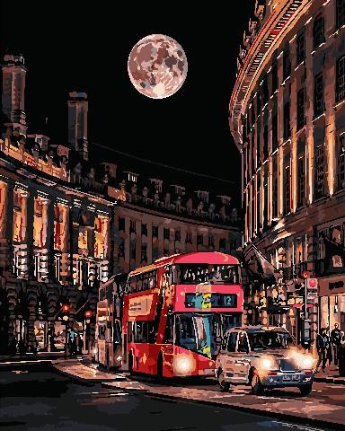 Картины по номерам Ночная жизнь Лондона ArtStory AS0699 40 х 50 см