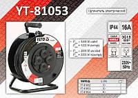 Удлинитель электрический на катушке 3х1,5мм - 30м., YATO YT-81053