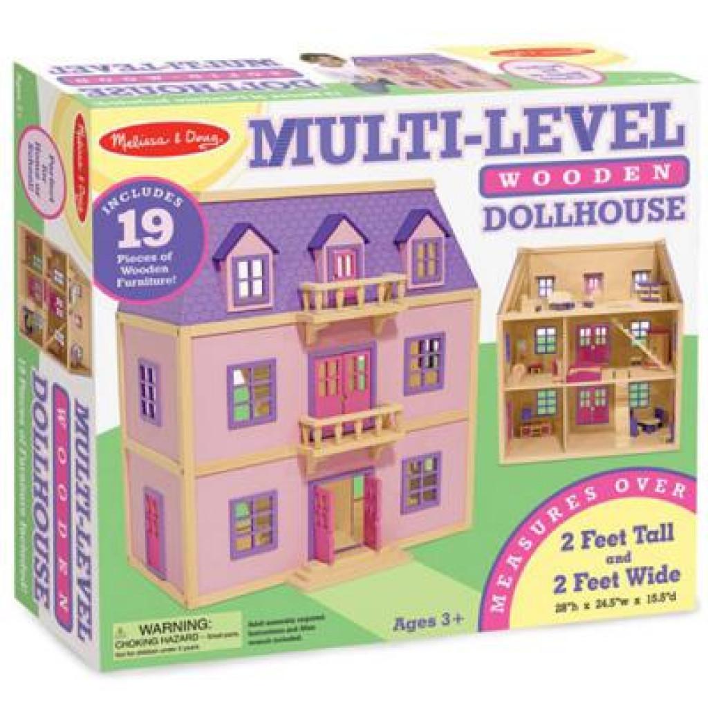Игровой набор Melissa&Doug Многоэтажный Деревянный Домик (MD4570)