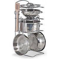 Игровой набор Melissa&Doug Pots & Pans Set посуда из нержавеющей стали (MD14265), фото 1