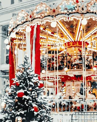 Живопись по номерам Рождественская карусель ArtStory AS0700 40 х 50 см
