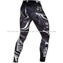 Компрессионные штаны Venum Gladiator 3.0 Spats Black White, фото 3