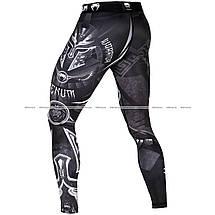 Компрессионные штаны Venum Gladiator 3.0 Spats Black White, фото 2