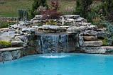 Водопад из Камня. ЛАНДШАФТНЫЙ ДИЗАЙН. Работа с КАМНЕМ, фото 9
