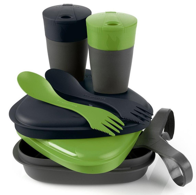 Набір посуду LIGHT MY FIRE Pack'n Eat Kit (8 предметів), зелений/чорний
