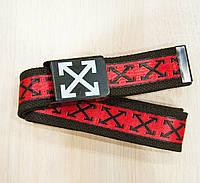 Ремень Пояс Off White X Collection Красный 110 см