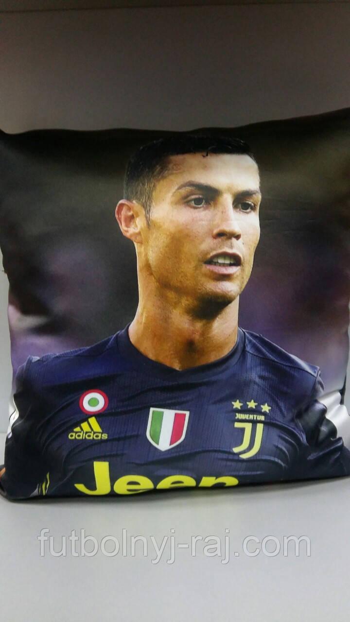 Подушка сувенірна із зображенням Cristiano Ronaldo.