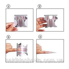 Формы для наращивания ногтей - рулон 300 шт. (7 *7 см.), фото 3