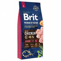 Корм Бріт Преміум Юніор L Brit Premium by Nature Junior L для цуценят великих порід 15 кг
