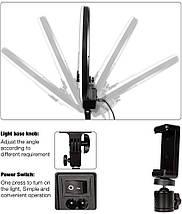Кільцева світлодіодна лампа AFI R116 зі стійкою, кільцевої led світло 3200-6500к, фото 3