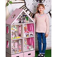 """Кукольный домик для барби с мебелью и текстилем """"Большой Особняк"""""""