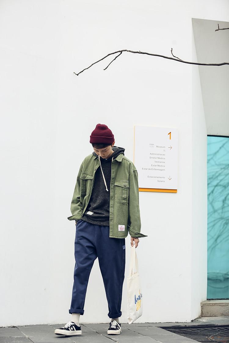 Мужская зеленая джинсовая куртка
