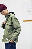 Мужская зеленая джинсовая куртка, фото 2