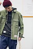 Мужская зеленая джинсовая куртка, фото 3