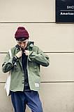 Мужская зеленая джинсовая куртка, фото 4