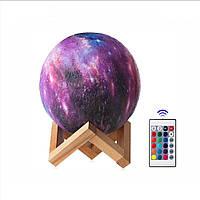 Светильник ночник настольная лампа Kronos Вселенная от USB Moon Lamp 3D 15 см аккумуляторный