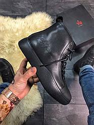 Женские ботинки   Yohji Yamamoto Y-3 Bashyo Full Black демисезонные (черный)