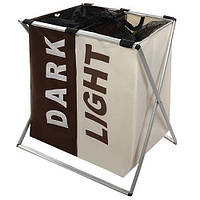 Корзина для белья Stenson R82579 Light&Dark Brown/Beige
