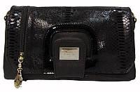 Клатч черный с замшей под VF (Велина Фабиано), фото 1
