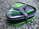 Набір посуду LIGHT MY FIRE Pack'n Eat Kit (8 предметів), зелений/чорний, фото 2