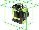 Лазерный уровень (нивелир) Fukuda 3D 93T-1 зеленый луч+штанга распорная  3,5м, фото 2