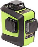 Лазерный уровень (нивелир) Fukuda 3D 93T-1 зеленый луч+штанга распорная  3,5м, фото 4