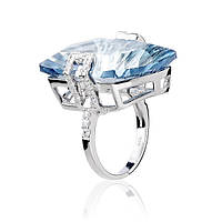 Серебряное кольцо с синим мистик кварцем