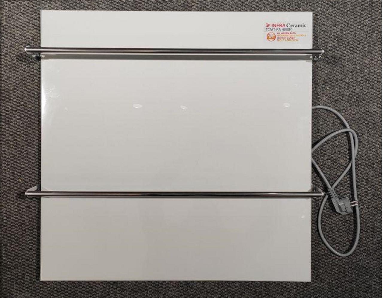 Керамическая полотенцесушитель TEPLOCERAMIC ТСМТ-RA 400 белая, (керамическая полотенцесушитель)