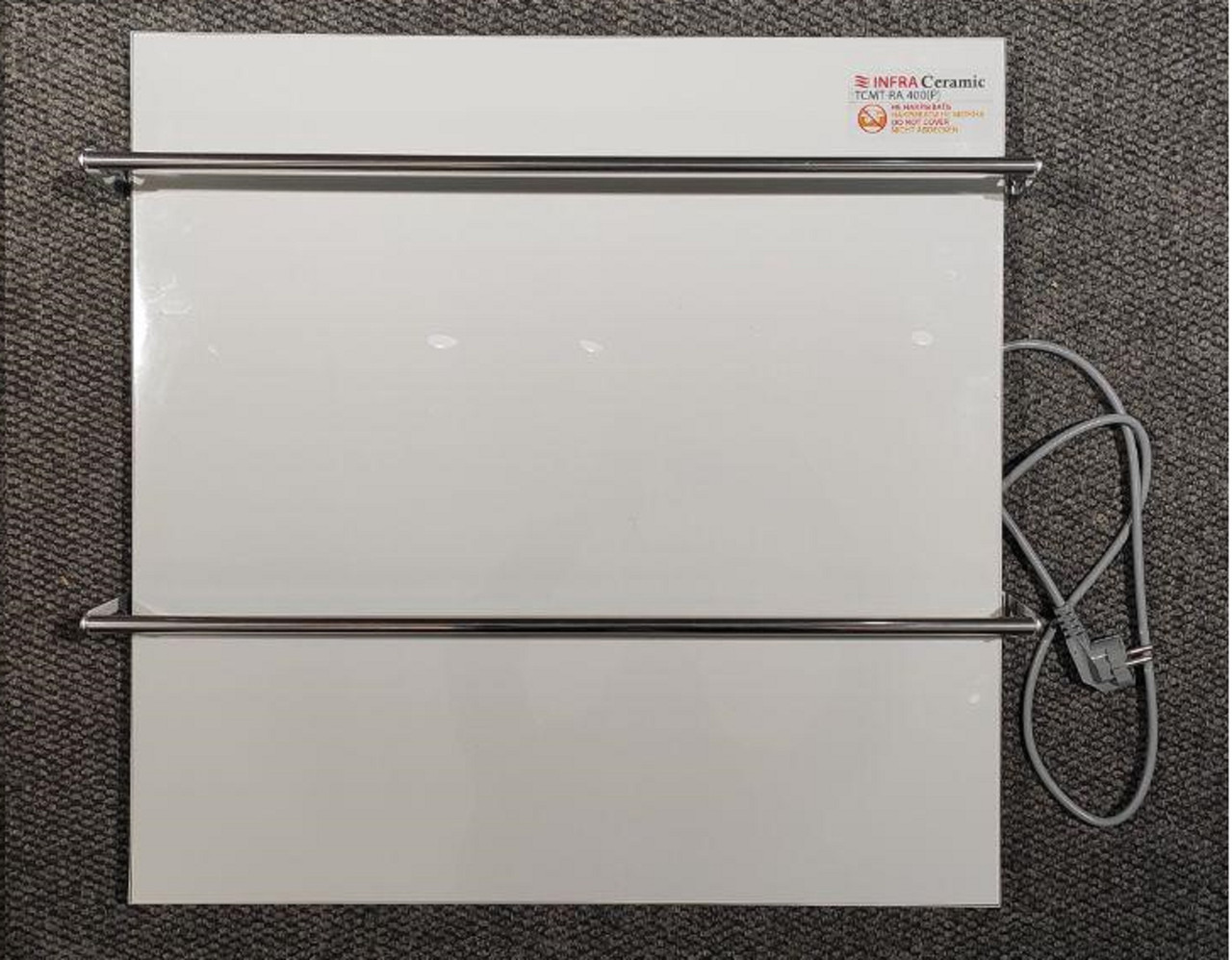 Керамічна рушникосушка TEPLOCERAMIC ТСМТ-RA 400 біла, (керамічна сушка для рушників)