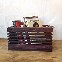 "Деревянный ящик ""Gom""-red / Хранение / Органайзер / Фото фон / Декор для магазина / Фото декор / Кашпо, фото 1"