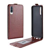 Чехол IETP для Samsung Galaxy A30S / A307 флип вертикальный PU коричневый, фото 1