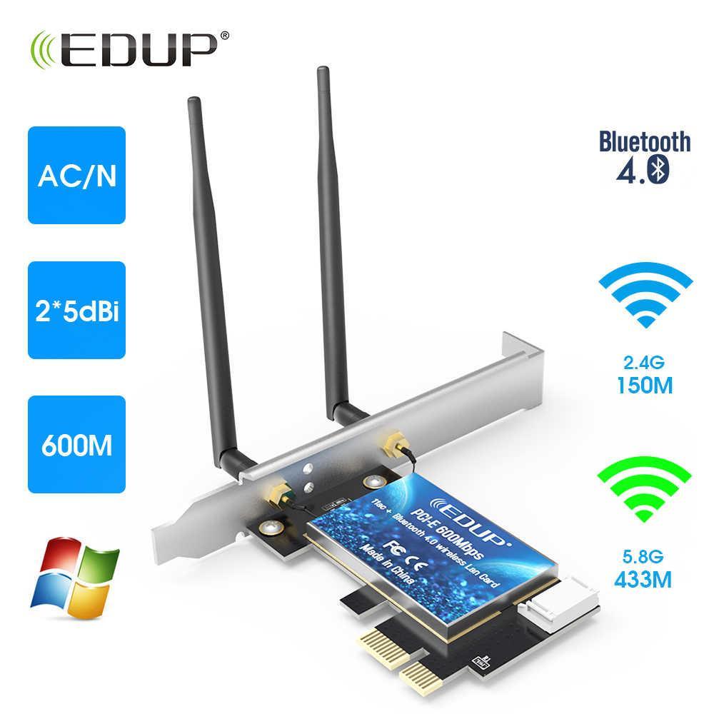 EDUP WiFi-адаптер Беспроводной Bluetooth-адаптер Двухдиапазонный сетевой адаптер AC600 PCI-E  #100021-1
