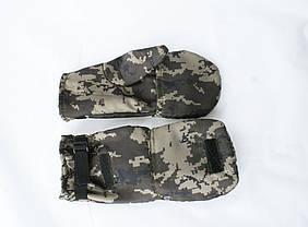 Перчатки - варежки для охоты и рыбалки LeRoy (пиксель, oxford), фото 3