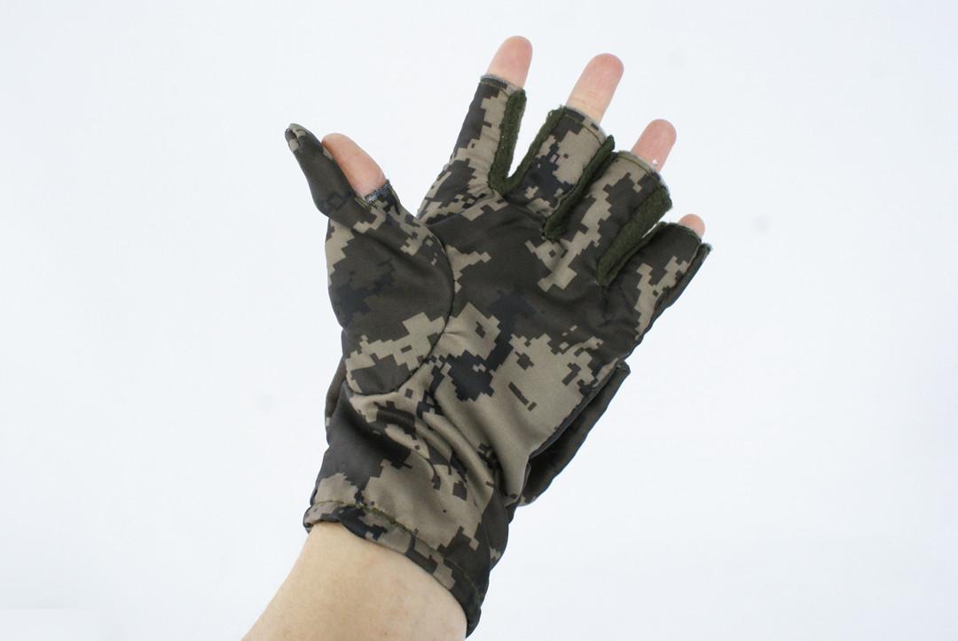 Перчатки - варежки для охоты и рыбалки LeRoy (пиксель, oxford)