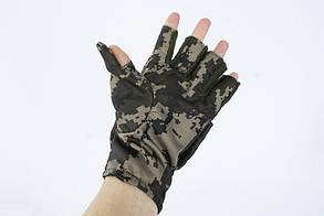 Перчатки - варежки для охоты и рыбалки LeRoy (пиксель, oxford), фото 2