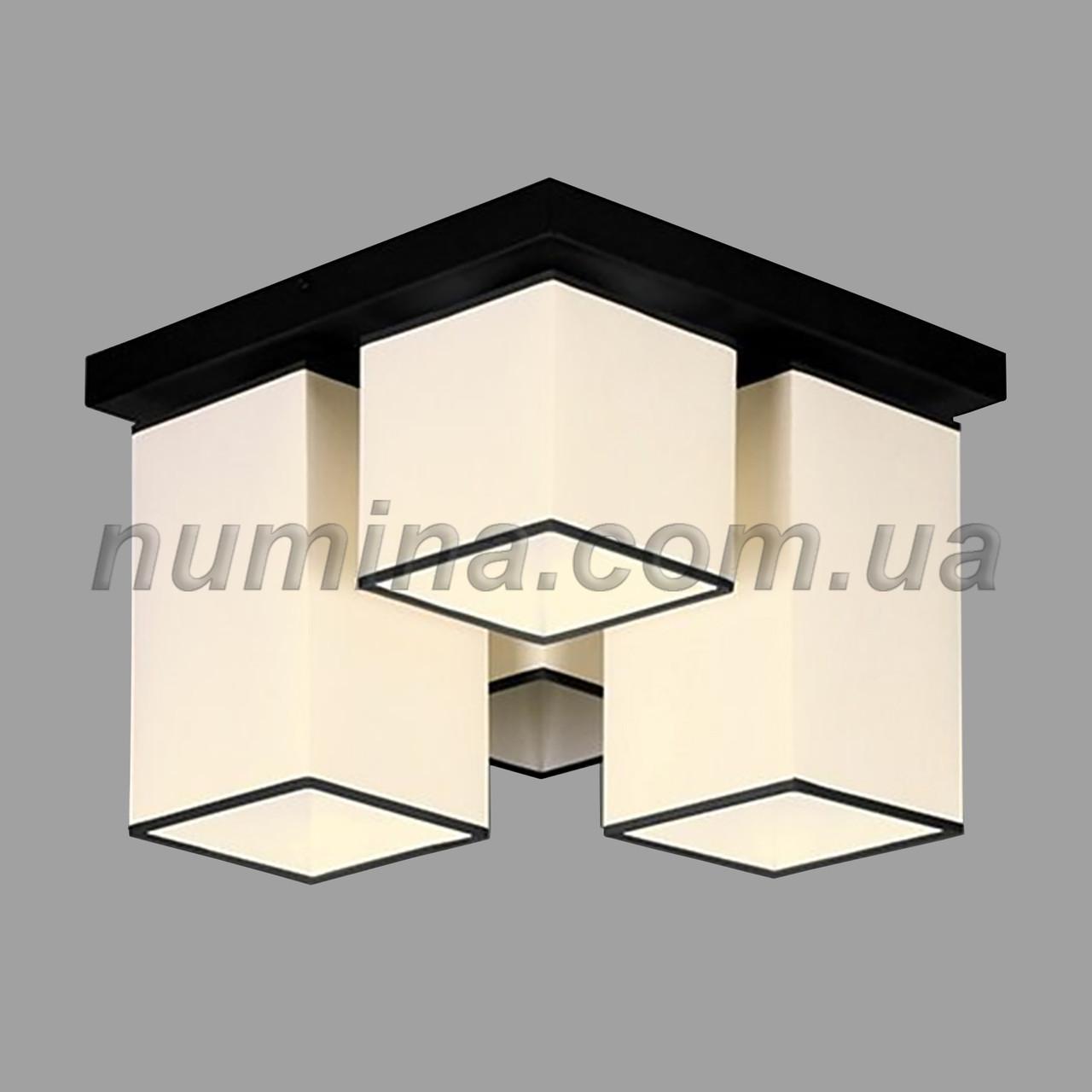 Люстра стельова на 4 лампи 29-H178/4 BK+WT
