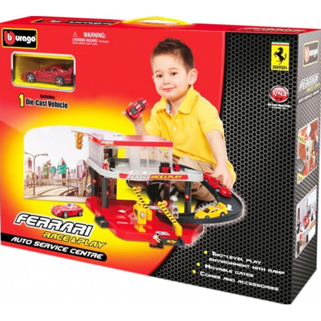 Игровой набор Bburago Гараж Ferrari 2 уровня 1:43 (18-31231)