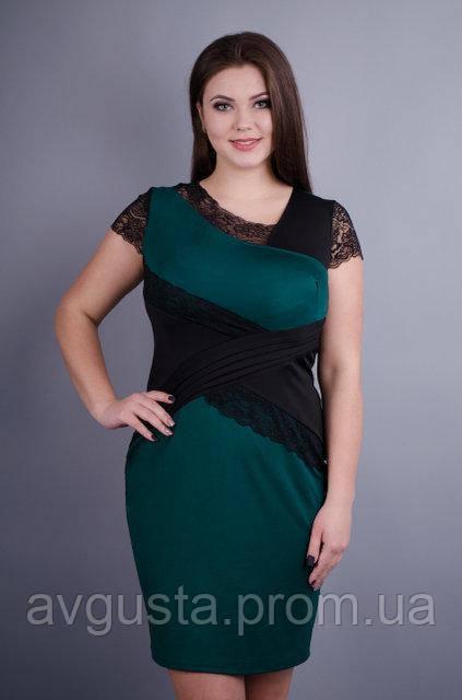 Платье Мадлен изумруд