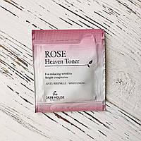 Пробник Омолаживающий тонер с экстрактом розы The Skin House Rose Heaven Toner, 2 мл