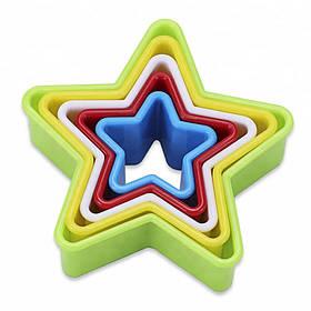Вырубка для теста звезда двухсторонняя 5 штук в наборе